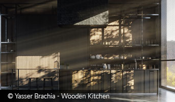 Image of Wooden Kitchen by Yasser Brachia